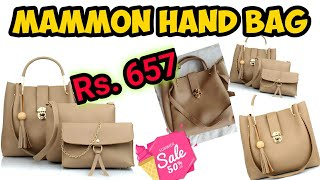 Mammon Women 39 s Handbag With Sling Bag amp Wristlet Set of 3 Review and Unboxing Saurushi Vlog