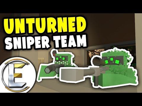 Sniper Team | Unturned PVP - Target spotted 300m away, Take him out! (Legendary Sniping)