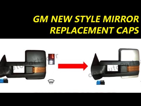 Change Or Replace Tow Mirror Caps Color Silverado Sierra GM 2015 Style