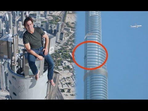 Tom Cruise Leaps For Mission Impossible 4 From Burj Khalifa Dubai
