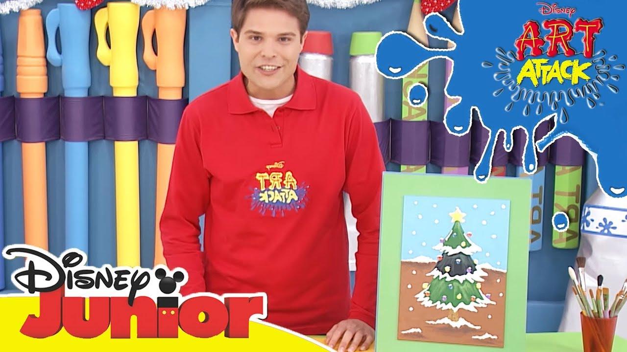 Verschneite Weihnachtsbilder.Art Attack Bastelclip 20 Bilder Mit Schnee Disney Junior