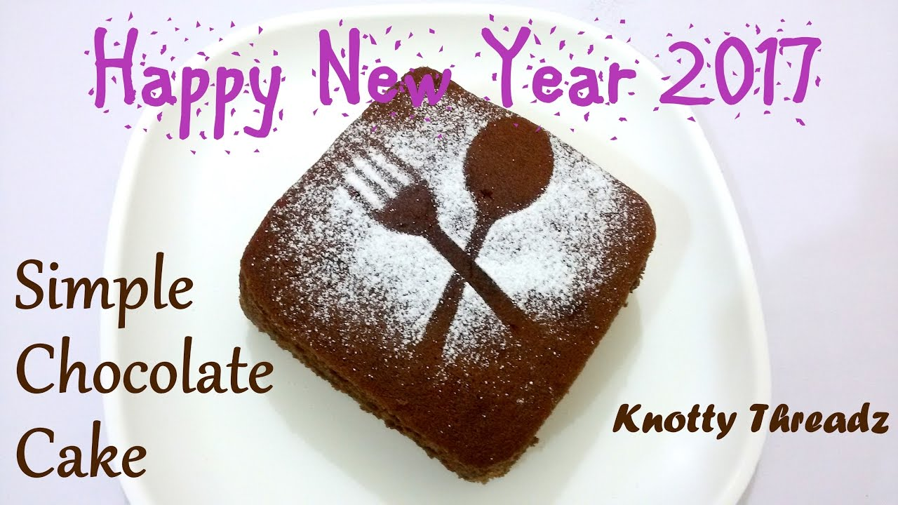 New year special how to bake a simple chocolate cake for How to bake a simple cake for beginners