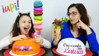 SORVETE VS COMIDA DE VERDADE COM TROLLAGEM | Luluca