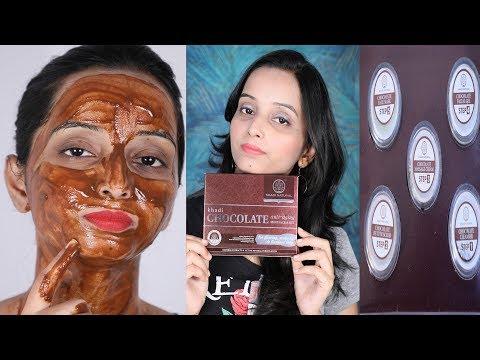 घर पर फेशियल करने का सबसे आसान तरीका - Khadi Natural Chocolate Anti Aging Facial kit - 동영상