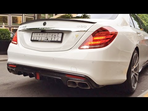 900HP Brabus Rocket V12 & 850 Biturbo Start and Driving Sound!