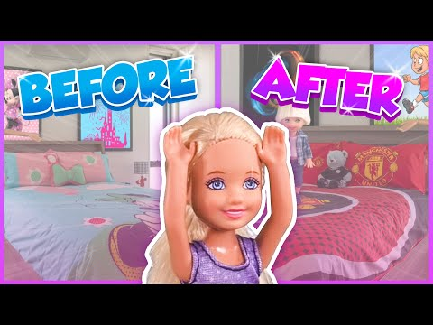 Barbie - Chelsea's Bedroom Makeover | Ep.197