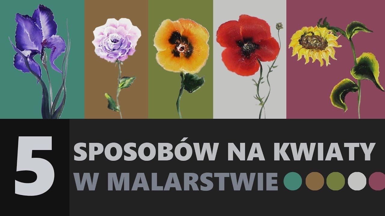 5 Sposobow Malowania Kwiatow Porady I Tricki Flower Painting Flower Drawing Flower Art