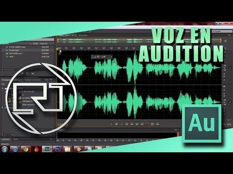 GRABAR VOZ EN AUDITION Y PONER UNA MUSICA DE FONDO - AUDITION CS6