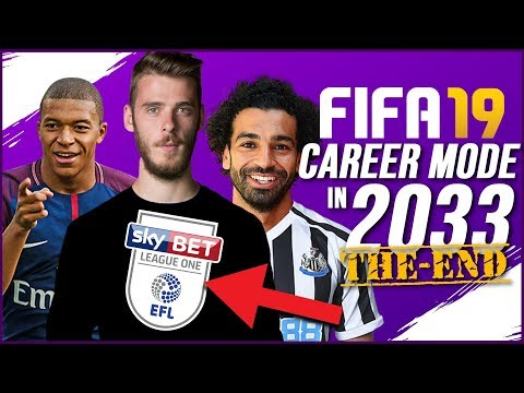 THE END OF FIFA 19 CAREER MODE (2033) | DE GEA IN LEAGUE 1? + RETIRING?
