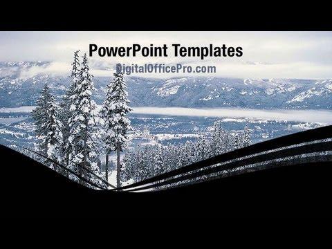 Winter Powerpoint Template Backgrounds Digitalofficepro 06792w