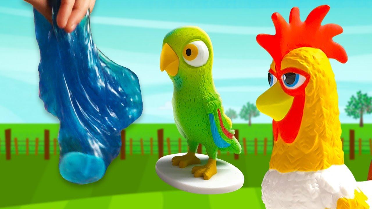¡Slime y Arena Kinética Mágica, Animales en la Piscina! | El Reino Sorpresas