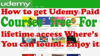 How to get Udemy Paid Courses free 100% Working for lifetime 2017 Part - 1
