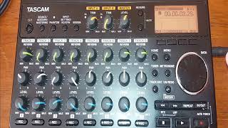 TASCAM DP-008EX HOW TO RECORD A SONG