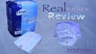 Real Quick Review Ep2 Tena Ultra (US version)  #adultdiaper