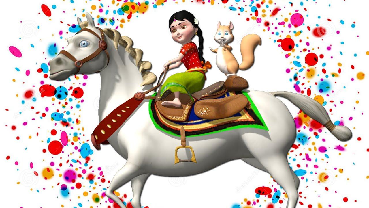 Chal Mere Ghode Chal Chal Chal | Chal Mere Ghode Tik Tik Tik Hindi Rhymes for Children