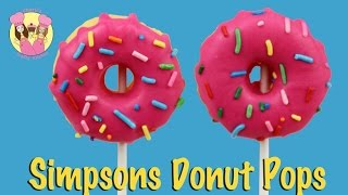 SIMPSONS DONUT CAKE POPS - Grandparents Day Special - How To Baking Video By Charli's Crafty Kitchen