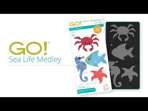 Beach Decor Made Easy With The AccuQuilt GO! Sea Life Medley Die!
