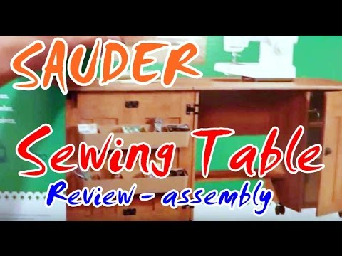 SAUDER Sewing Table   YouTube