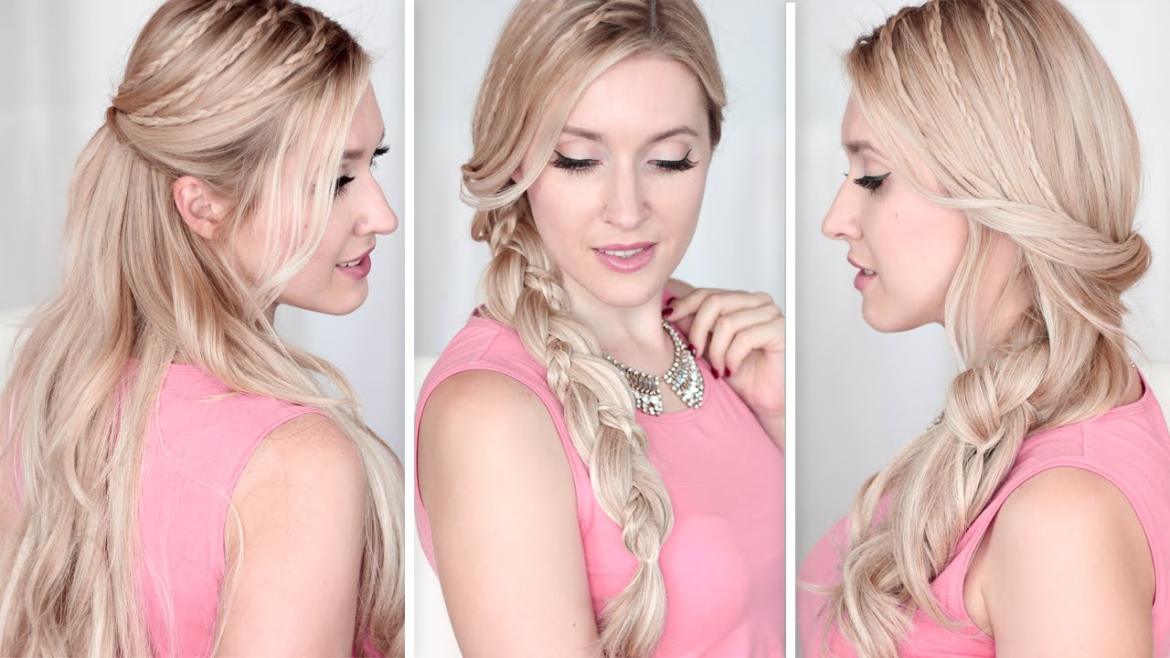 Long hair tutorial Running late hairstyles for school