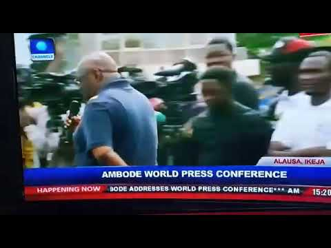 Best questions So far at the Ambode World Press Conference