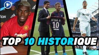 Le TOP 10 des transferts les plus chers de l'Histoire du football