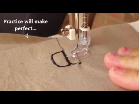 Freehand Embroidery With Regular Sewing Machine Using Free Motion Unique Lettering Sewing Machine