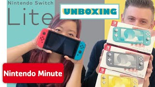 Nintendo Switch Lite Unboxing + Size Comparison