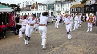 MADCAP dancing on the jetty on the final day of Broadstairs