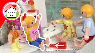 Playmobil Film Familie Hauser - Übernachtungsparty / Pyjamaparty bei Lena