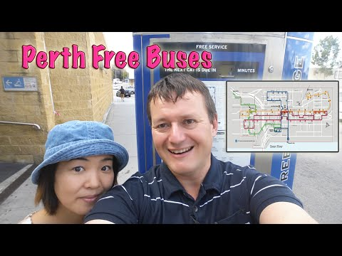 Perth city free bus guide and map - Western Australia