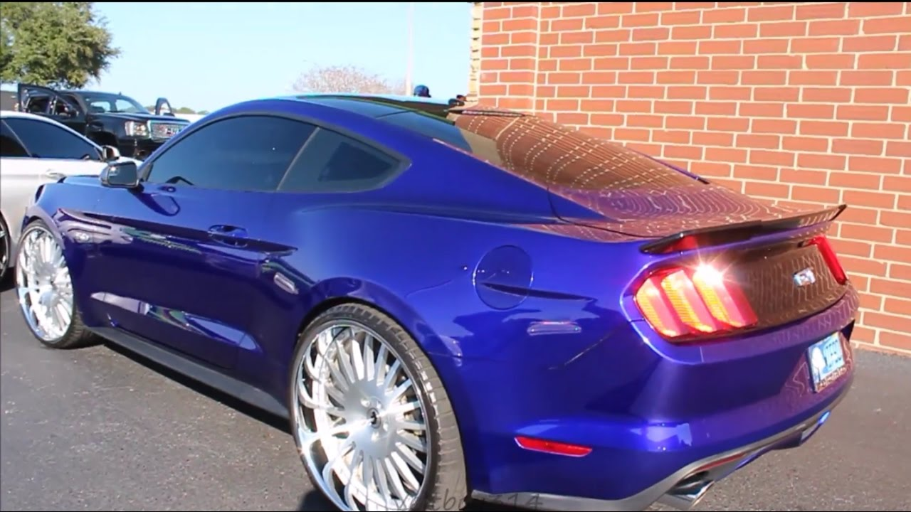 Veltboy314 candy blue mustang on 24 forgiato wheels orlando fl youtube