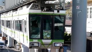 湘南モノレール 5000系 3編成 緑帯 合格祈願 サクラサクトレイン 富士見町駅