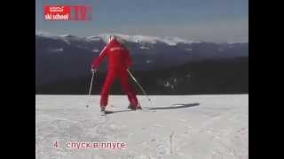 Видео урок обучение катанию на горных лыжах!