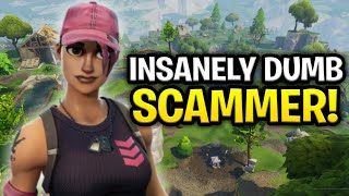 Insanely Annoying Scammer Scams Himself! (Scammer Get Scammed) Fortnite Save The World