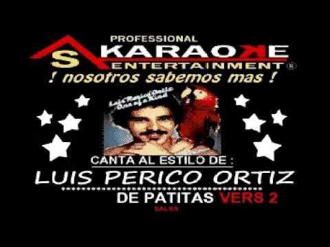 KARAOKE  LUIS PERICO ORTIZ DE PATITAS VERS 2