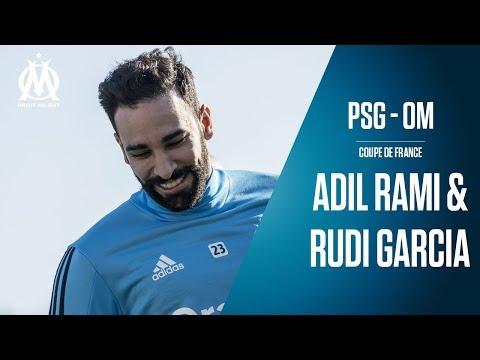 PSG - OM | La conférence d'Adil Rami & Rudi Garcia