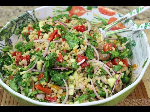 Super Healthy Farro Salad!