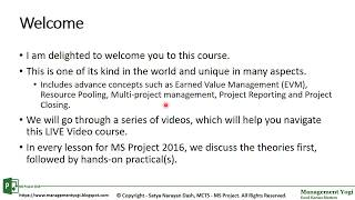 MS PROJECT 2016 LIVE LESSONS - Guaranteed Learning: Video 2 - Course And Credit