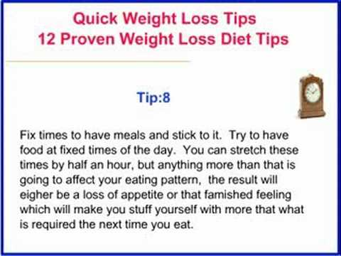 Quick weight loss tips - 12 proven weight loss diet tips - YouTube