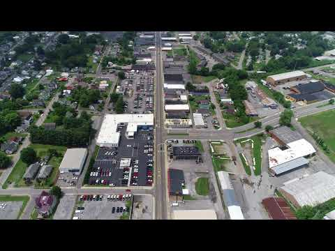 Flying around downtown Bristol TN/VA and King University