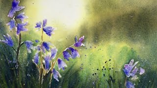 How to Paint An Atmospheric Landscape With Bluebells