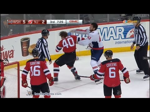 Tom Wilson vs Blake Coleman Oct 13, 2017
