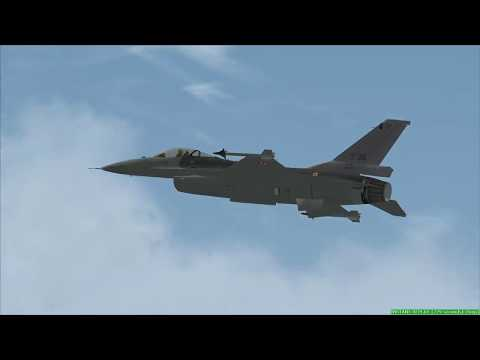 Falcon F 16    flying on the limits........