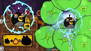Angry Birds - CHEMICAL BUBBLE PIGGIES GET REKT BY SHOCKWAVE ANGRY BIRDS