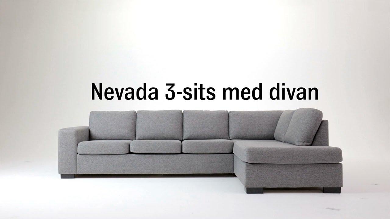 Kända Soffa Nevada 3-sits med divan, Mio - YouTube FS-12