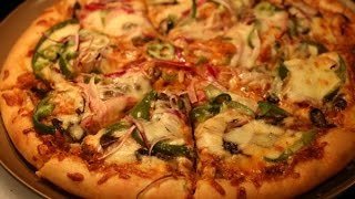Homemade Vegetable  Pizza Video RecipeQuick n Easy Homemade Pizza Recipe