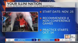 NCAA approves new start date for basketball