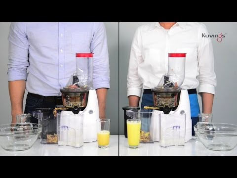 Kuvings B6000 Juicing Tips- Compare Kuvings Whole Slow Juicers by Using Wrong Way vS Right - YouTube