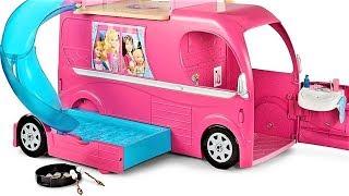 Обзор на Авто домик Барби. Автодомик для куклы Барби с мебелью. Обзор игрушек Barbie Pop-Up Camper