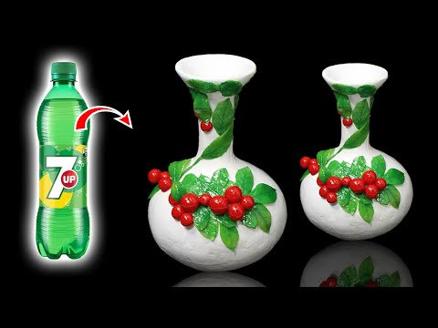Awesome Fruit style flower vase with plastic bottle | Home decoration